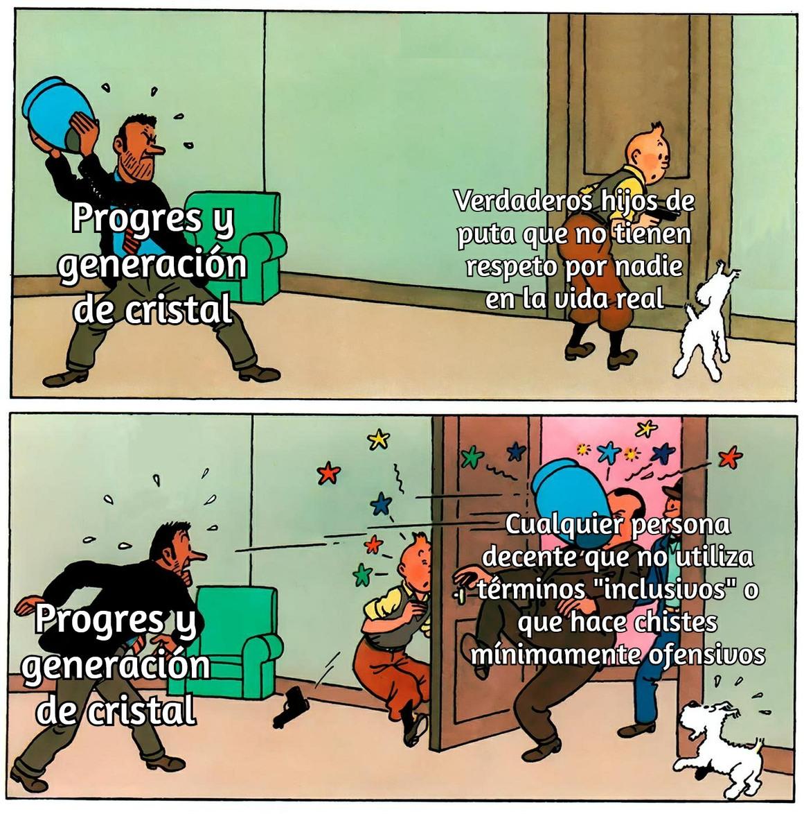 El jarrón serían funas en redes sociales - meme