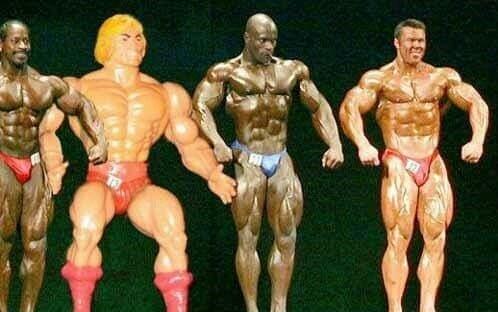 He-man no mister Olímpia. - meme