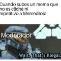 Meme repetitivo hablando de los cliches en Memedroid