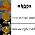 «Compagnon d'ascendence africaine» pour la 2eme phrase