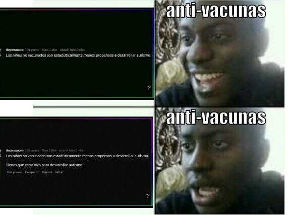 Anti-vacunas - meme