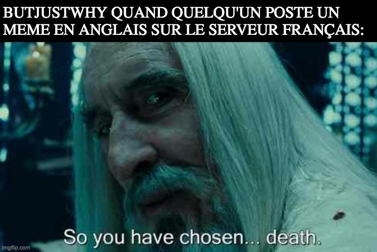 en même temps nous sommes sur un serveur français - meme