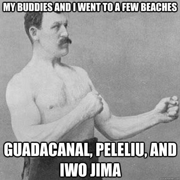 Ah Granddads war stories - meme