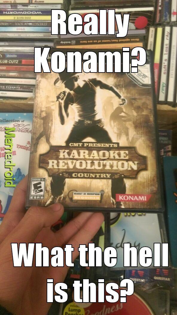 why did Konami ever make this - meme