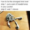 The strongest knot ever