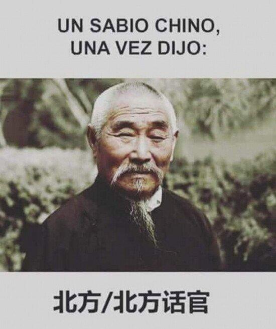 sabiduría china - meme