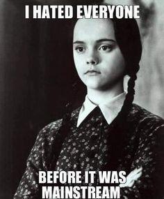Grumpy Addams - meme