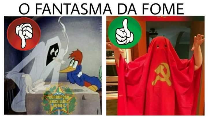 O verdadeiro fantasma - meme