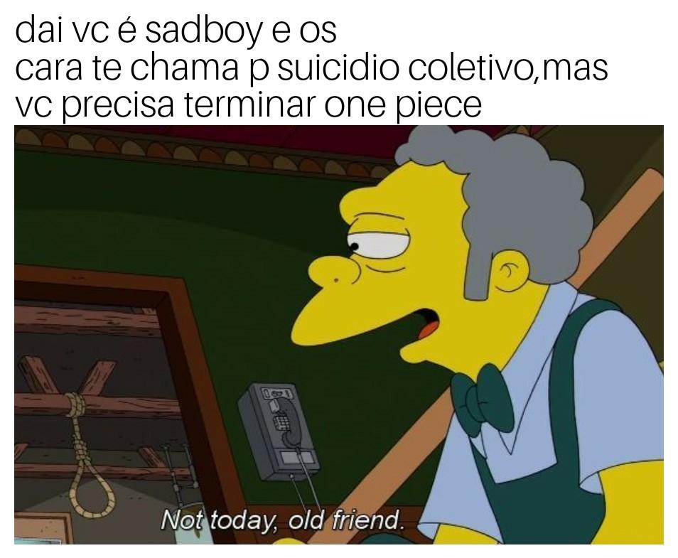 Sadboys nem é gente - meme