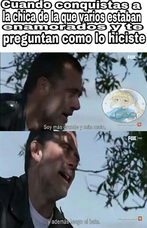Pinche negan suertudo - meme