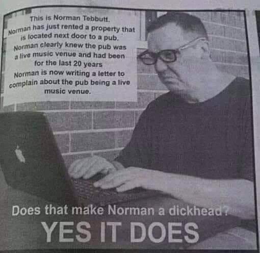 Don't be a Norman. - meme