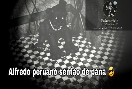 Alfredo peruano sentao de pana  - meme