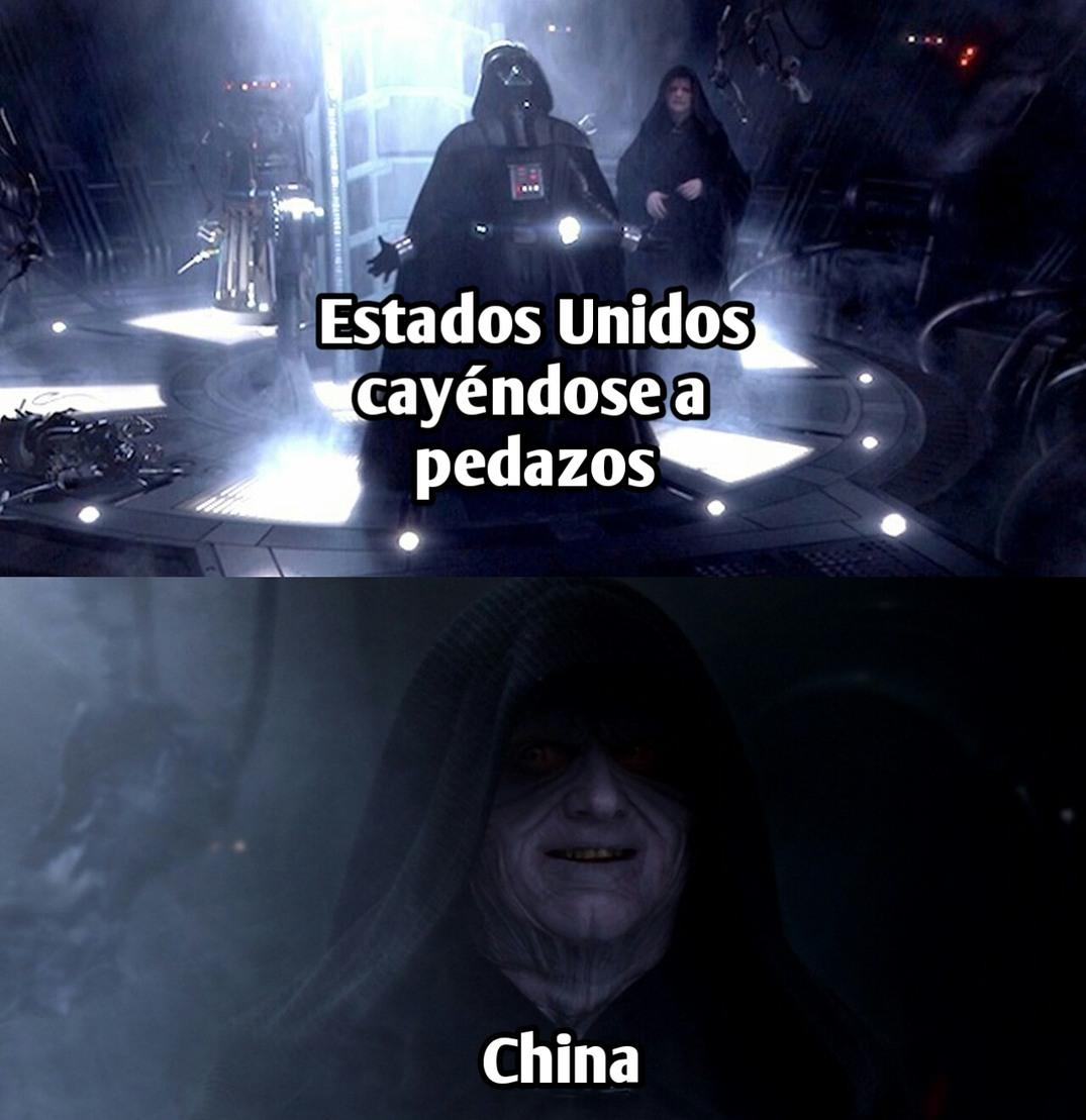 Ambos países compitiendo por ser la mayor potencia - meme