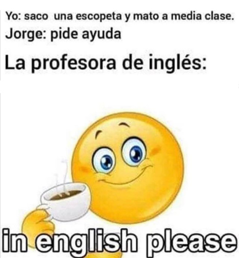 In english please :D - meme