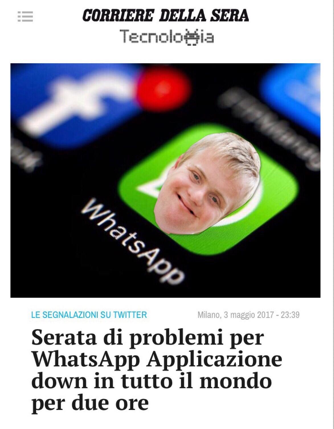 Per il down di ieri di whatsapp cito voi piccoli superstiti di questa app in declino - meme