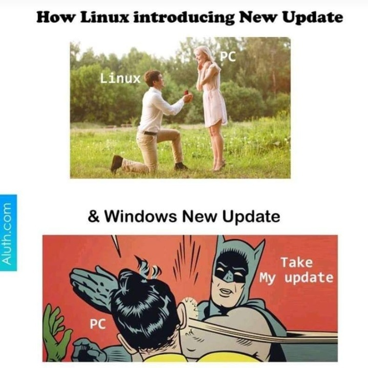 update window linux - meme
