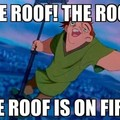 The roof...