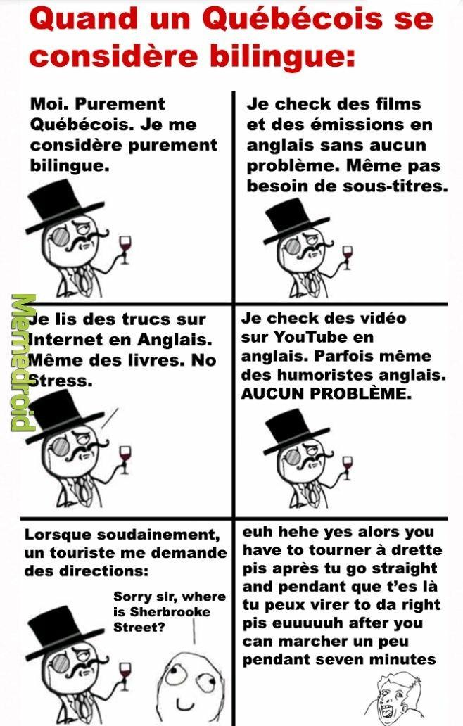 Les quebecois bilingue - meme