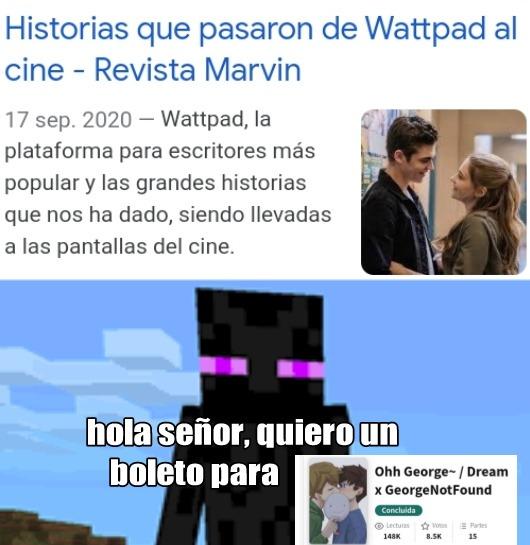 Otro meme de wattpad :D