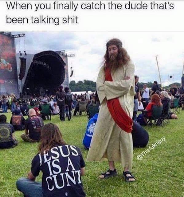 Damn jesus - meme
