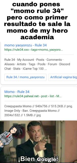 La verdad queria saber si eso del porno de momo era verdad,pero termine viendo a una momo diferente - meme