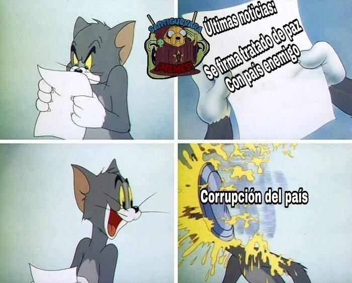 País cualquiera - meme