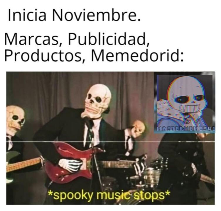 Spooky music stops - meme