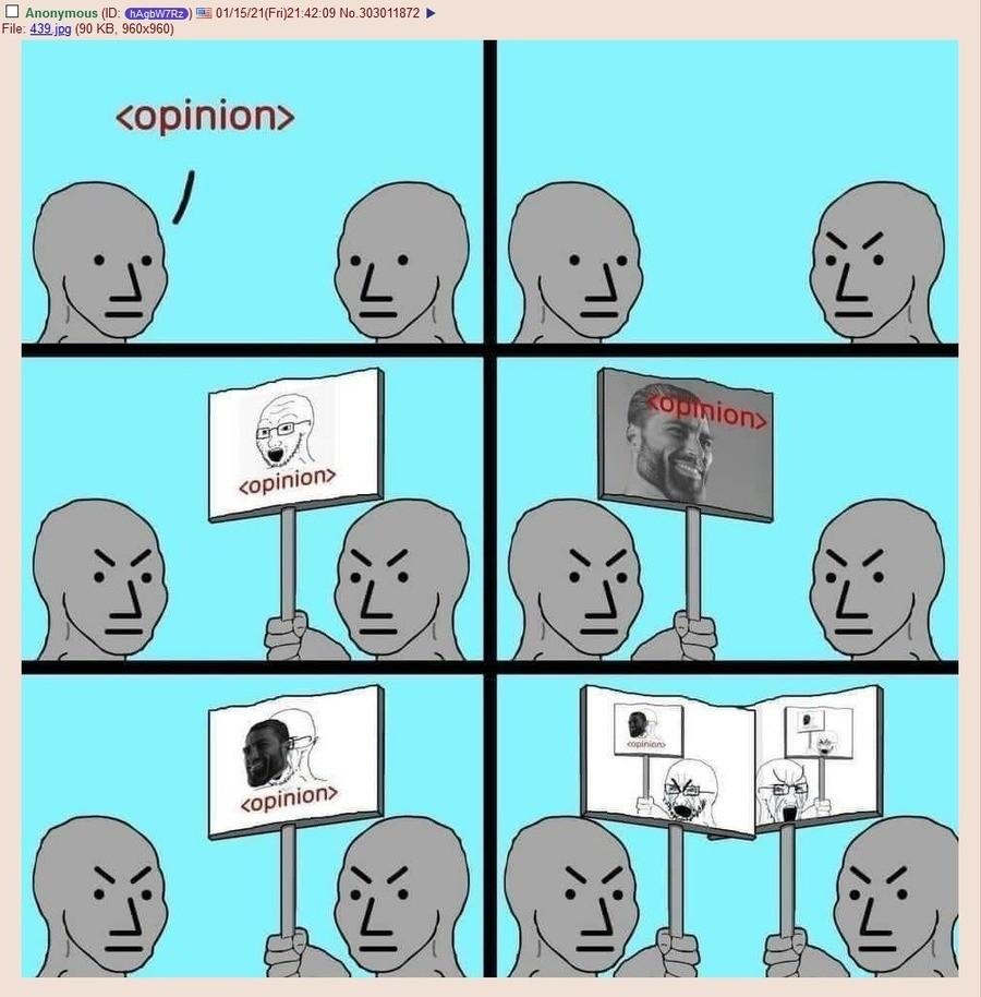 le opinion - meme