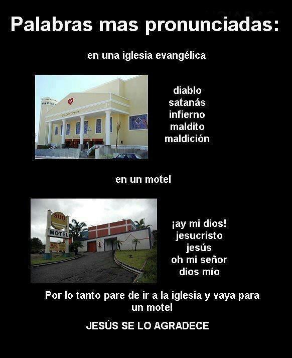 Motel vs iglesia - meme