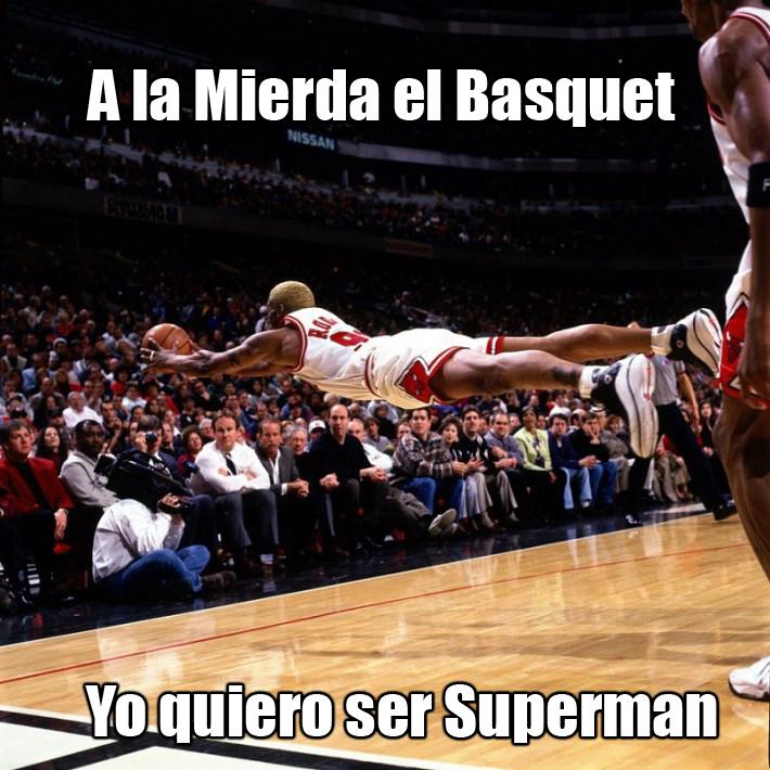 Basquet Superman - meme