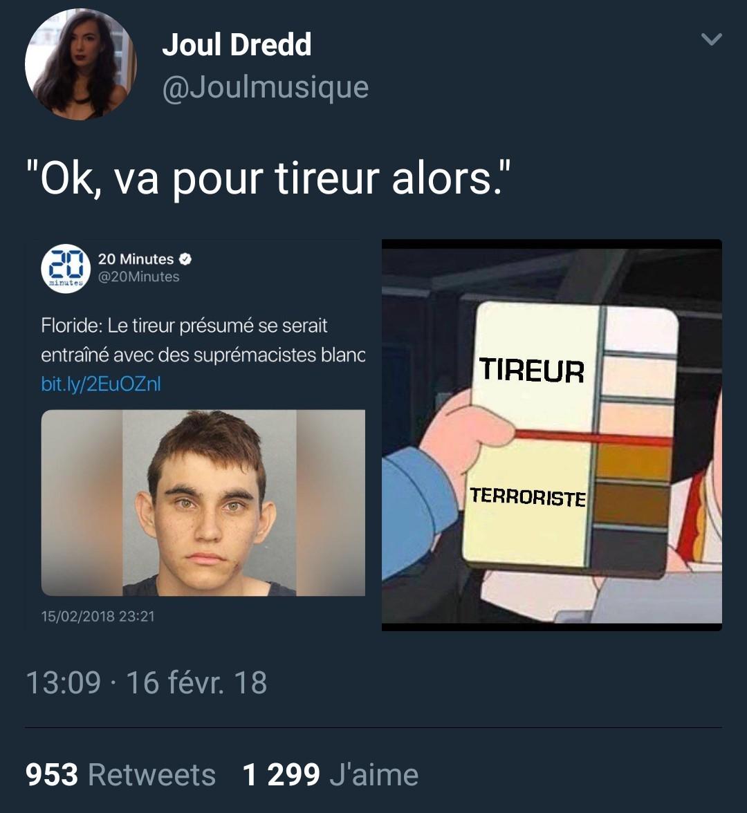 C'est pas un terroriste, il est juste un peu déranger - meme