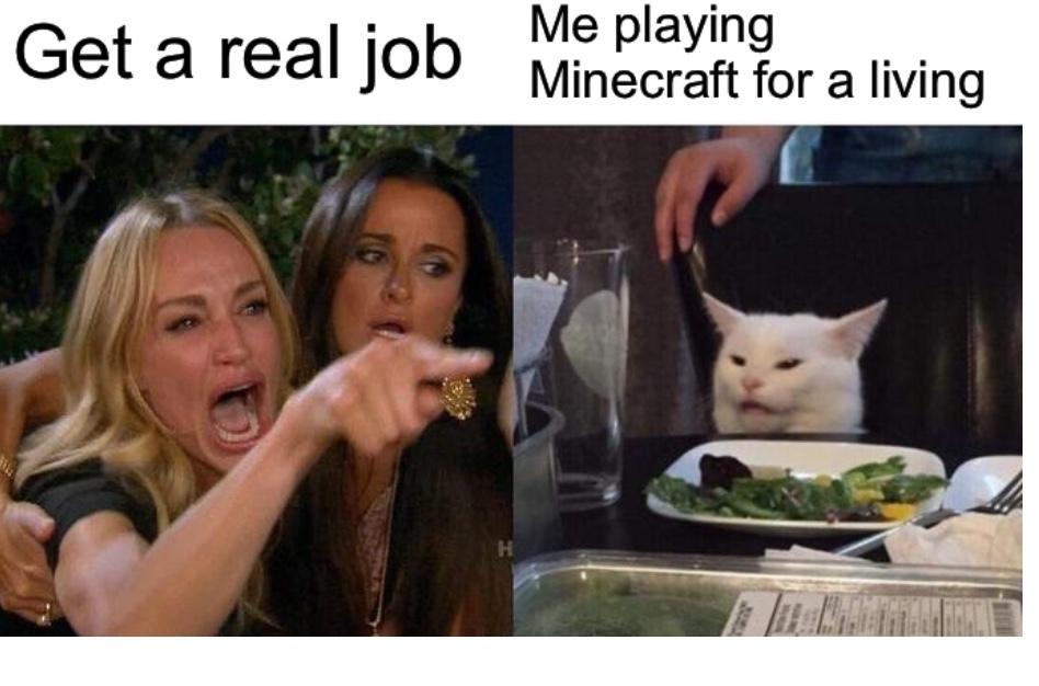 I like Minecraft - meme