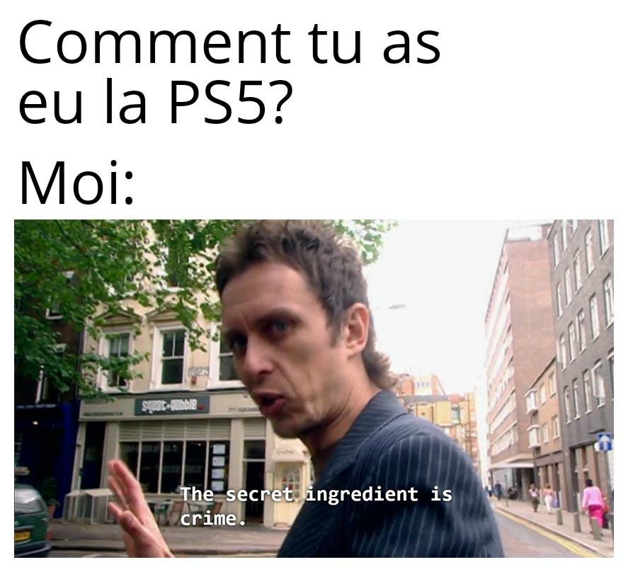 Tuto: comment avoir la PS5 - meme