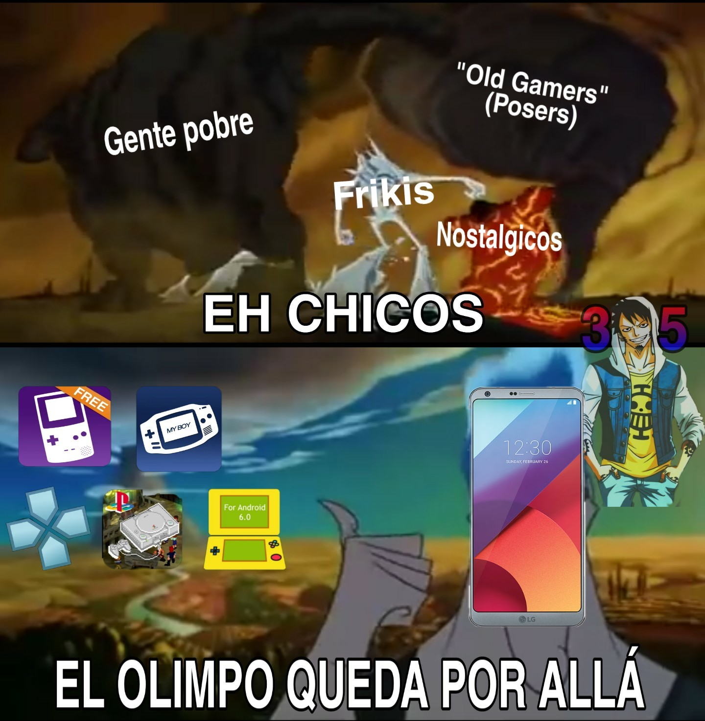Viva los emuladores - meme