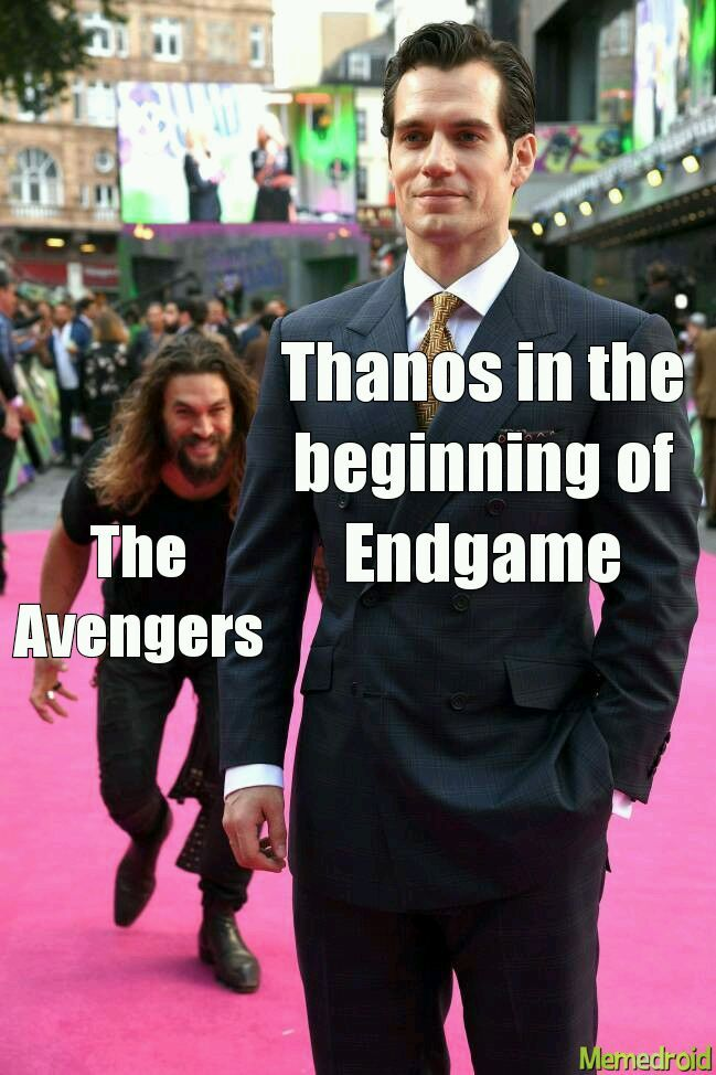 Thanos and the Avengers - meme