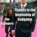 Thanos and the Avengers