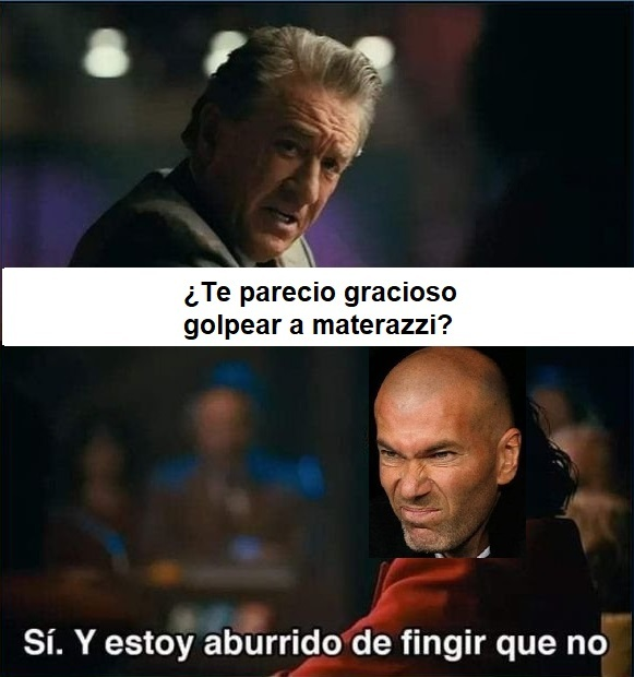 ZIDANE pasa del  fair play - meme