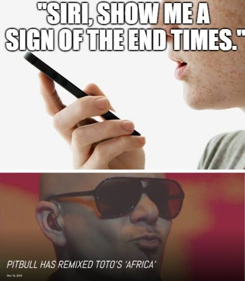 Pitbull is both Lord and Satan - meme