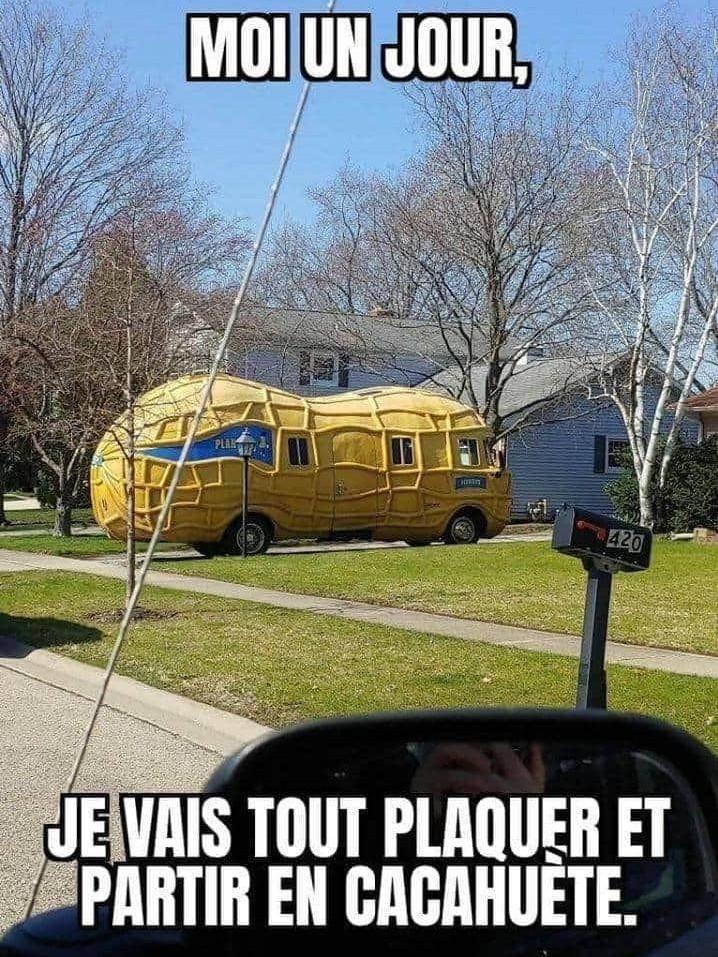 La cacahuète mobile - meme