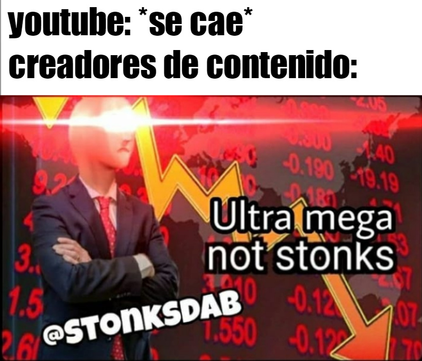 not stonks :( - meme