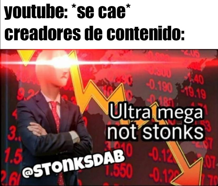 not stonks :( - meme
