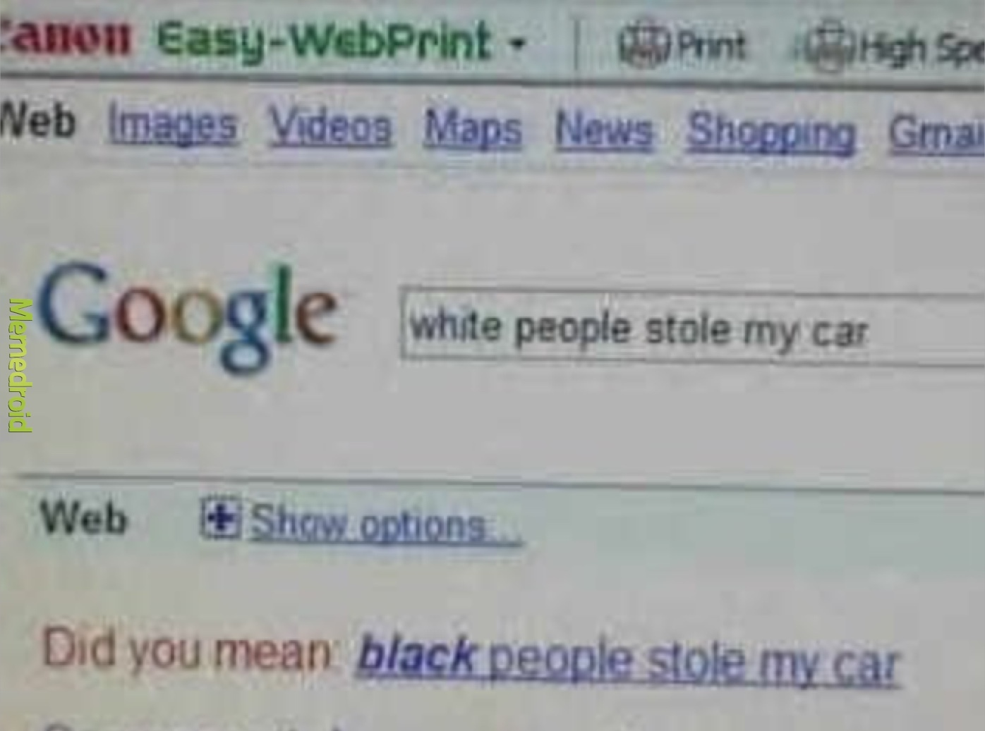 Google is racist! - meme
