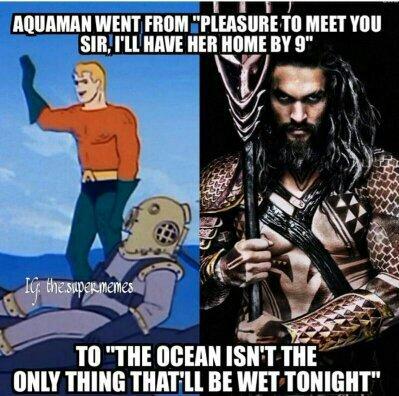 Aquaman Fuck yo bitch - meme