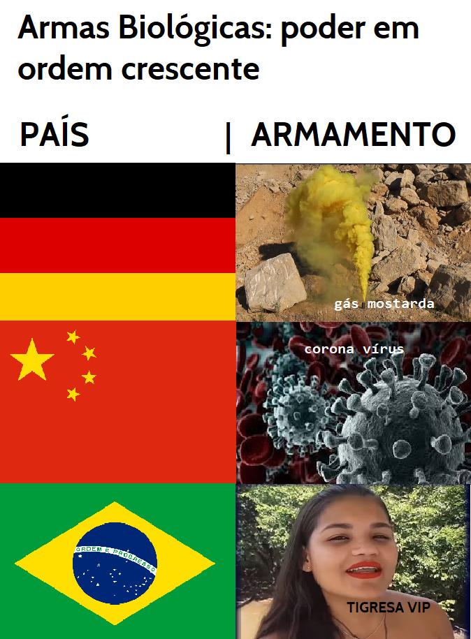 quem disse que o brasil nao ta pronto pra guerra - meme