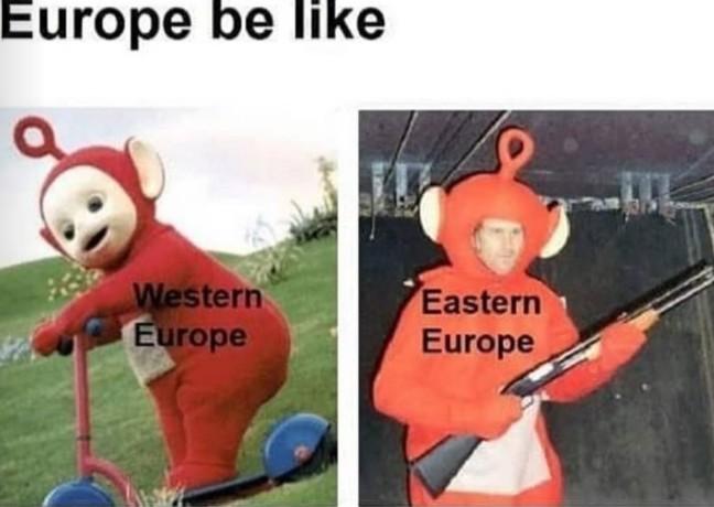 Ahí están pintados Bosnia, Montenegro, Armenia, Bielorrusia, etc... - meme
