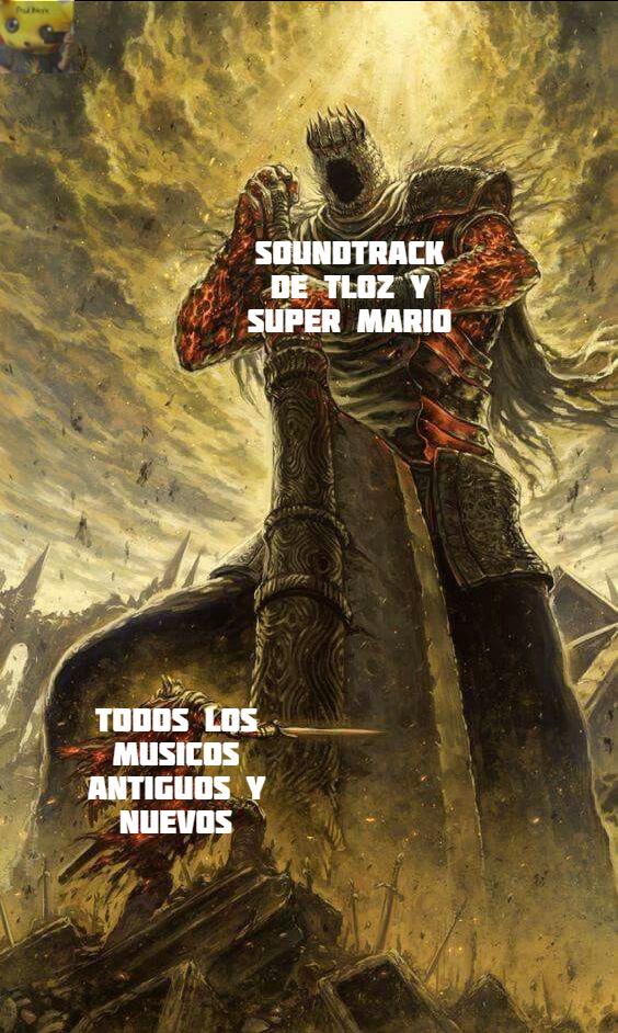 No subestimen a la música de los videojuegos - meme