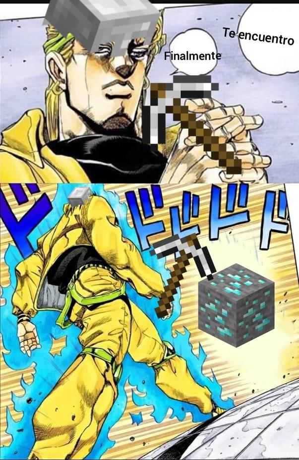 This is a madafuker minecraft and jojo refernece - meme