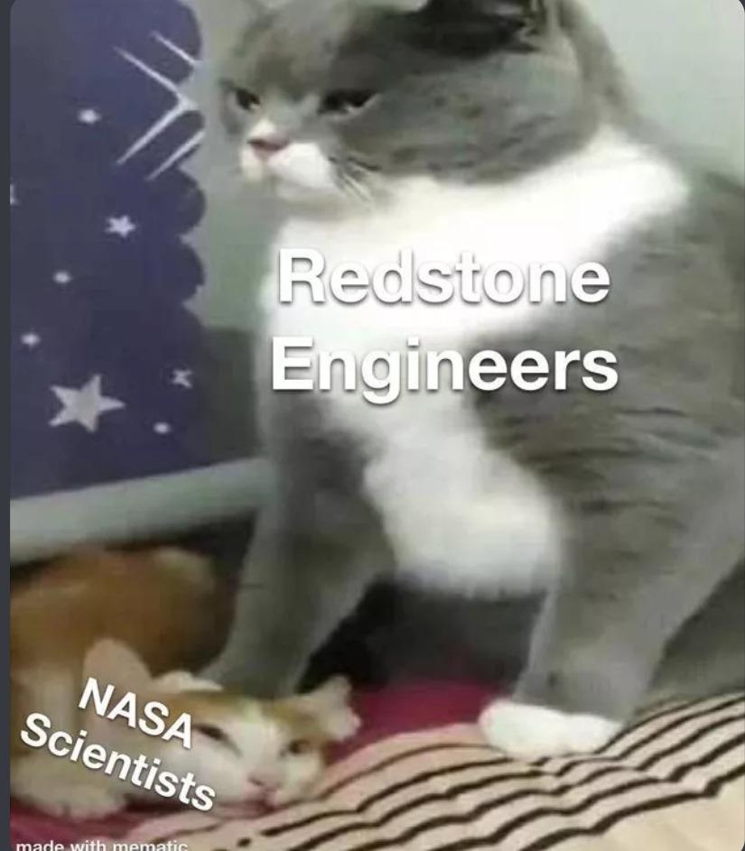 Yo hago soy ingeniero de redstone B) - meme