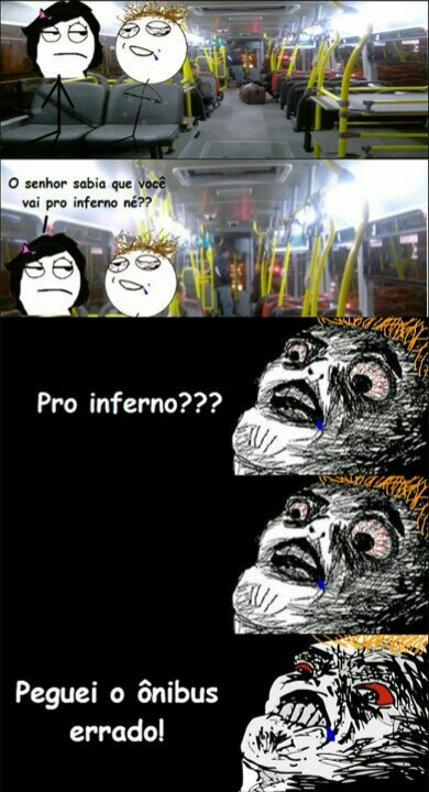 Ônibus pro inferno - meme