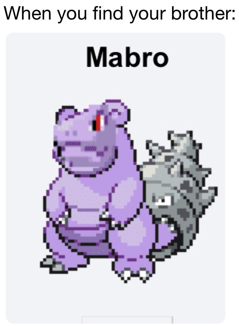 Eeeeh it's mabro! - meme
